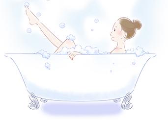 短い入浴時間で温まる