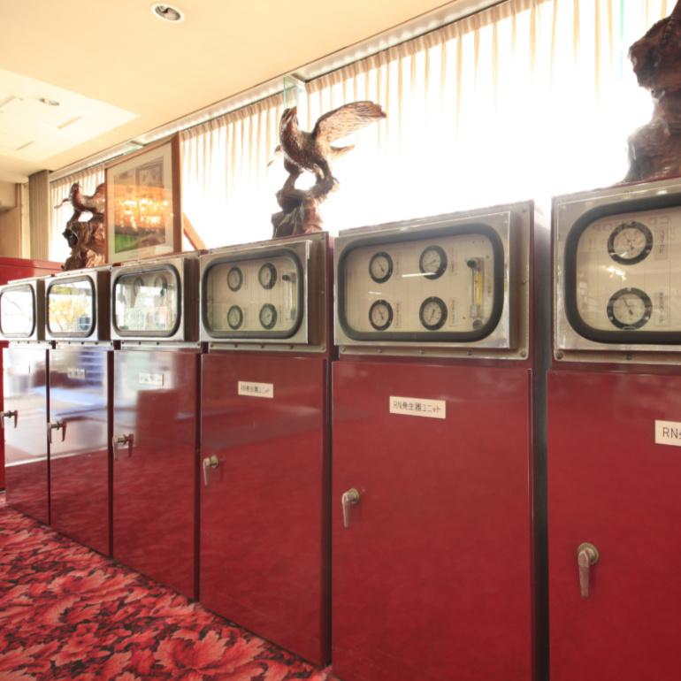 ラドン温泉・世界に誇るラドン発生装置