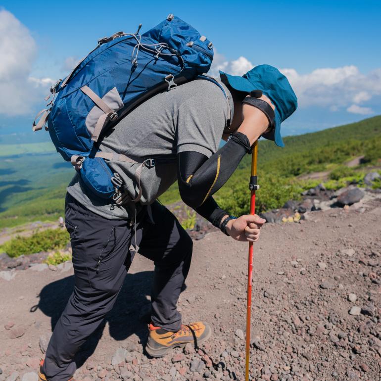 登山の疲れ