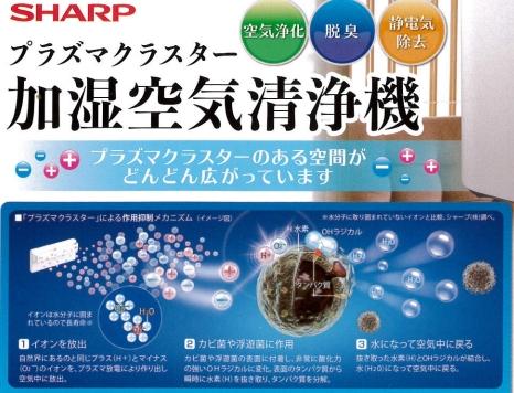 プラズマクラスターによる空気洗浄機設置